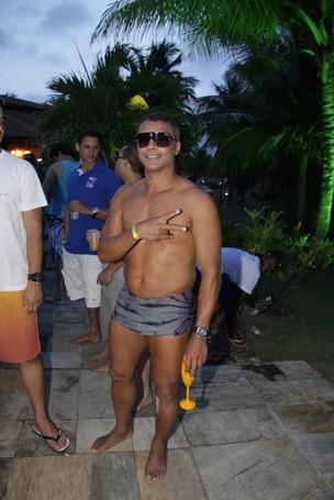 Romário em festa na Costa do Sauípe, na Bahia (Foto: Alex Palarea /AgNews)