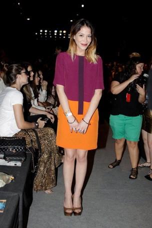 Julia Almeida no Fashion Rio (Foto: Philippe Lima / AgNews)