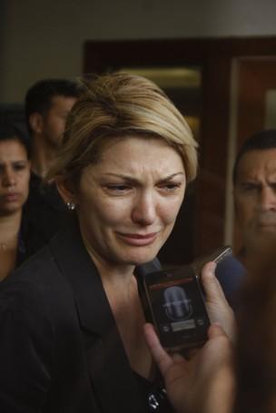 Enterro Marcos Paulo - Antonia Fontenelle (Foto: Foto Rio News)