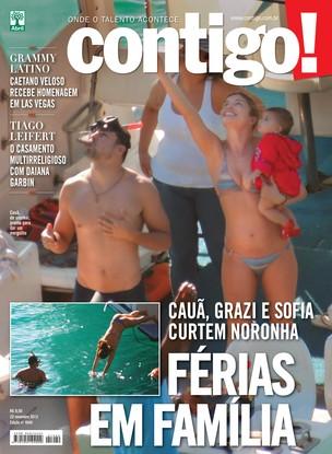 Grazi e Caua (Foto: Revista Contigo!/Divulgação)
