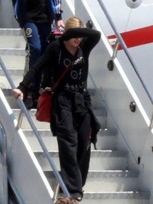 Madonna chega ao Rio de Janeiro (Foto: Andre Freitas  / Agnews)