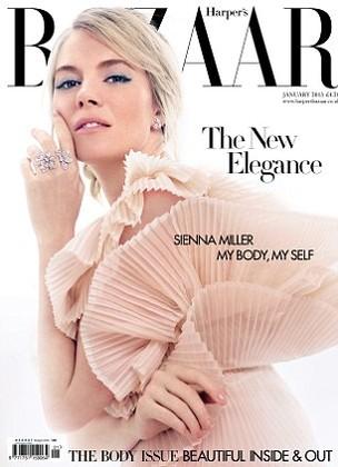 Sienna é capa da edição de janeiro da revista Harper's Bazaar (Foto: Reprodução)