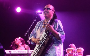 Stevie Wonder no Rock in Rio (Foto: Isac Luz / Ego)