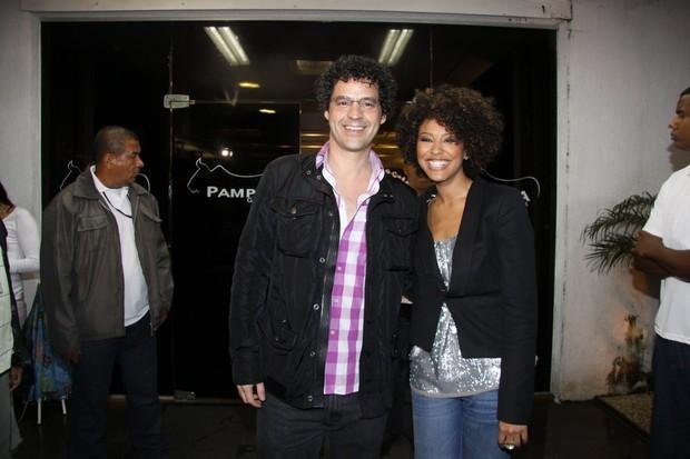 Sheron Menezzes e Bruno Garcia (Foto: Roberto Filho / AgNews)