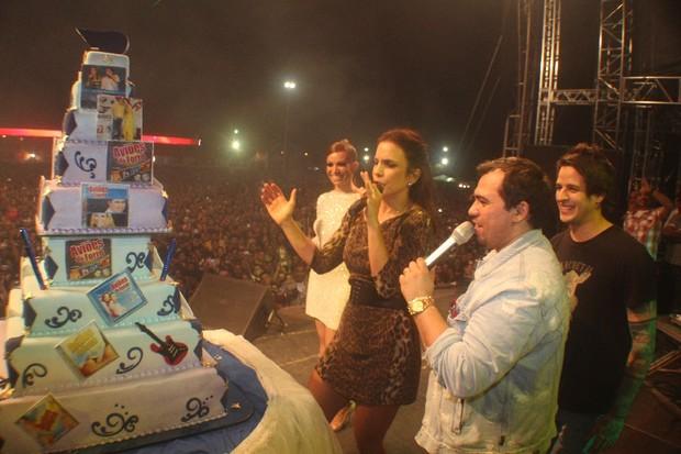 Ivete Sangalo no show de nove anos do Aviões do Forró (Foto: Fred Pontes/ Divulgação)