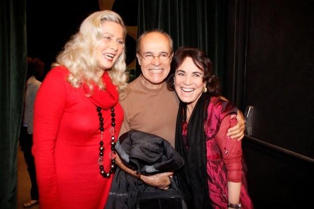Vera Fischer, Osmar Prado e Regina Duarte na estreia da peça 'As Polacas – Flores do Lodo' no Rio (Foto: Philippe Lima/ Ag.News)