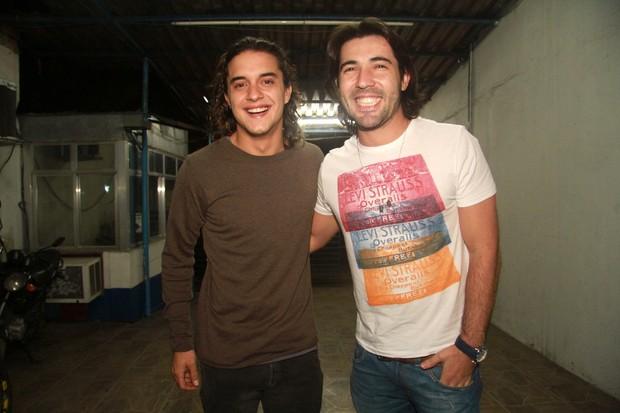 Guilherme Boury e Sandro Pedroso em festa de 'Fina estampa' no Rio (Foto: Raphael Mesquita/ Photo Rio News)