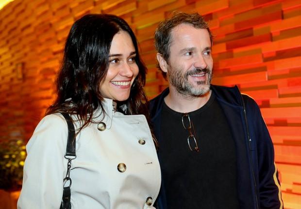 Alessandra Negrini e Leonardo Medeiros na pré-estreia de 'O Palhaço' no Rio (Foto: Francisco Cepeda/ Ag.News)