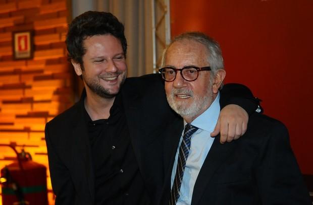 Senton Mello e Paulo José na pré-estreia de 'O Palhaço' no Rio (Foto: Francisco Cepeda/ Ag.News)