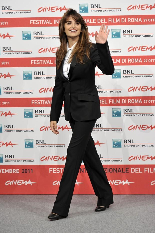 Penélope Cruz em coletiva do Festival internacional de cinema de Roma (Foto: Getty Images)