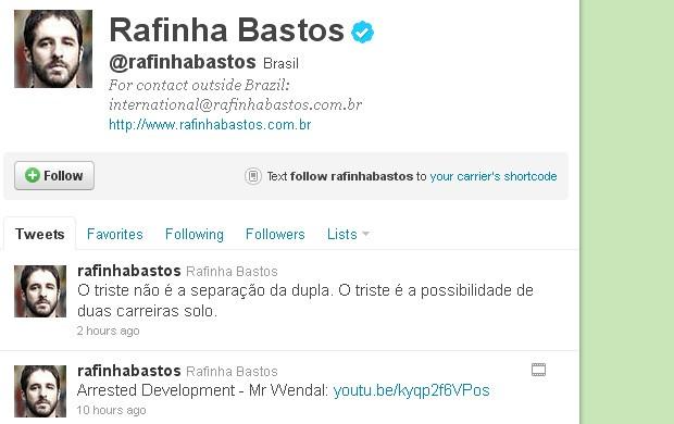 Rafinha Bastos (Foto: reprodução / twitter)