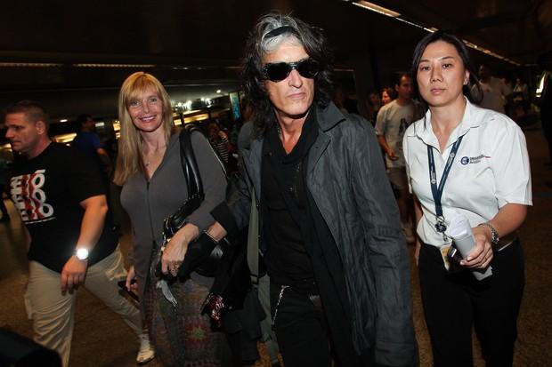 Joe Perry, do Aerosmith, desembarca em São Paulo (Foto: Manuela Scarpa / Photo Rio News)