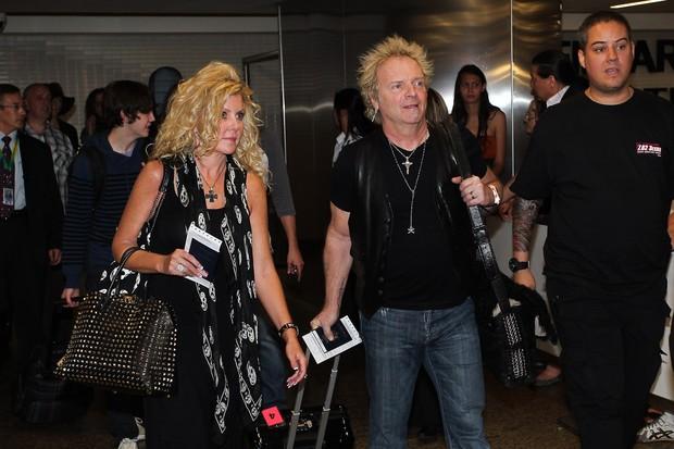 Joey Kramer, do Aerosmith, desembarca em São Paulo (Foto: Manuela Scarpa / Photo Rio News)