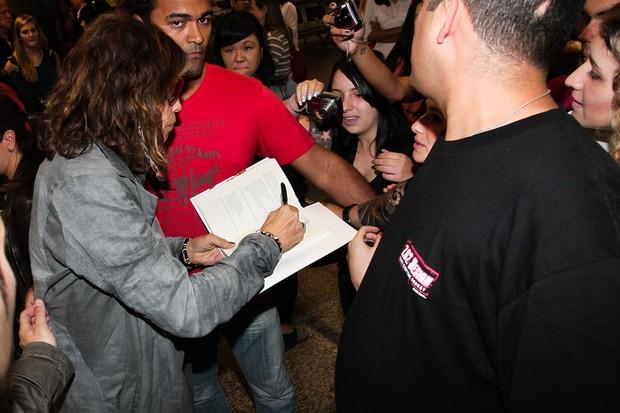 Steven Tyler desembarca em São Paulo (Foto: Manuela Scarpa / Photo Rio News)