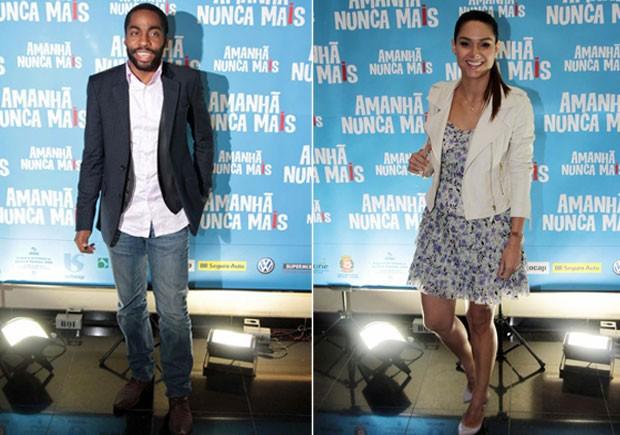 Lázaro Ramos e Fernanda Machado na pré-estreia do filme 'Amanhã nunca mais' em São Paulo (Foto: Orlando Oliveira/ Ag. News)