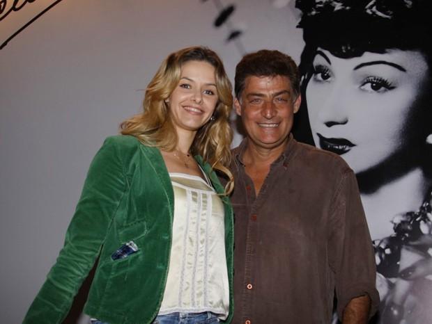 """Giuseppe Oristânio e Bianca Rinaldi na estreia do monólogo """"A Javanessa"""" (Foto: Onofre Veras / AgNews)"""