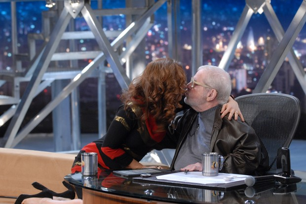 Claudia Raia com Jô Soares no Programa do Jô (Foto: Zé Paulo Cardeal / Tv Globo)