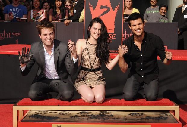 Robert Pattinson, Kristen Stewart e Taylor Lautner (Foto: Getty Images)