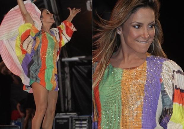 Claudia Leitte mostra canta em Manaus (Foto: Fred Pontes/ Divulgação)