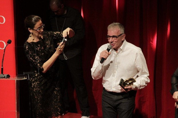 Lilia Cabral e Marco Nanini na quinta edição do Prêmio Contigo de teatro no Rio (Foto: Isac Luz/ EGO)