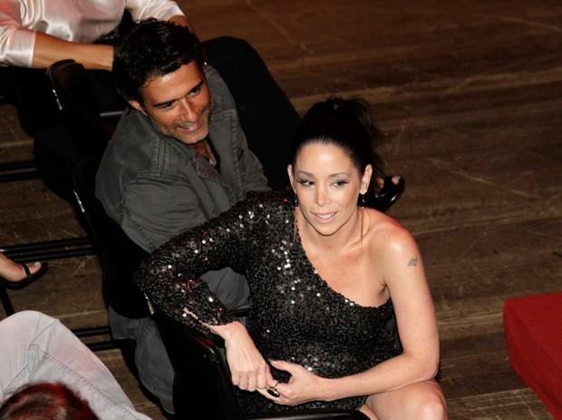 Marcos Pasquim e Danielle Winits no Prêmio Contigo (Foto: Isac Luz / EGO)