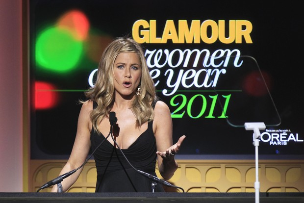 Jennifer Aniston em premiação da revista 'Glamour' em Nova York, nos Estados Unidos (Foto: Reuters/ Agência)
