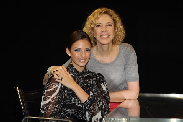 Carol Celico e Marília Gabriela (Foto: Crédito: Carol Soares/SBT)