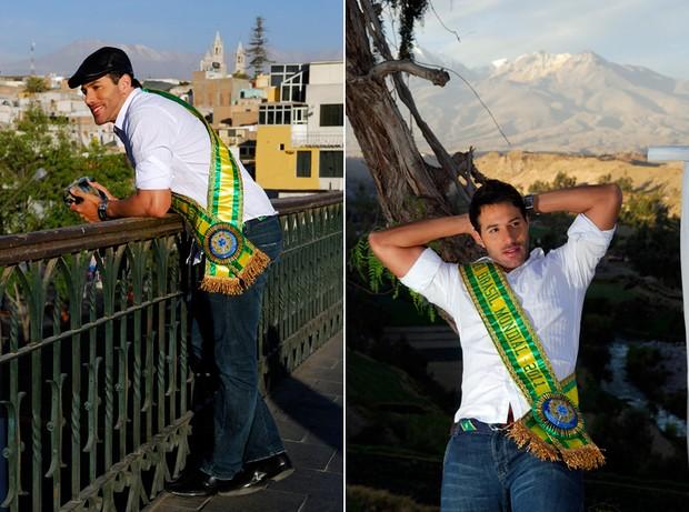 Mister Mundial Universo passeia no Peru (Foto: Divulgação)