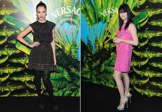 Jessica Alba e Selma Blair em evento de moda em Nova York, nos Estados Unidos (Foto: Getty Images/ Agência)
