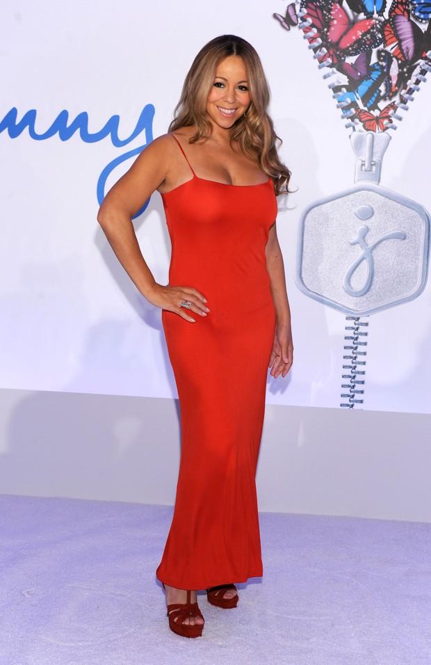 Mariah Carey em entrevista coletiva em Nova York, nos Estados Unidos (Foto: Getty Images/ Agência)