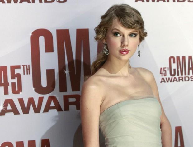 Taylor Swift em premiação de música country em Tennessee, nos Estados Unidos. (Foto: Reuters/ Agência)