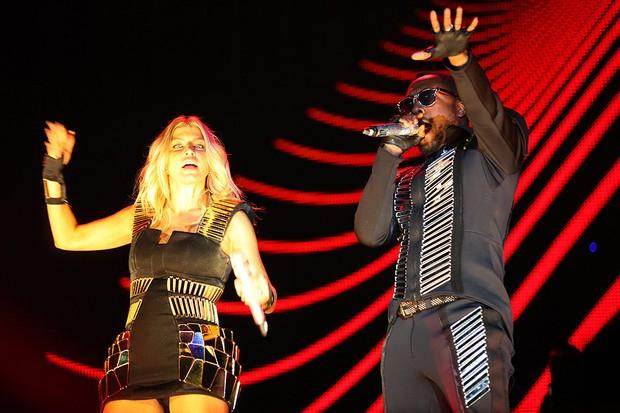 Fergie e Will I.Am no SWU (Foto: Iwi Onodera/EGO)
