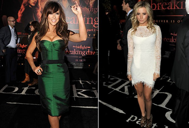 Jennifer Love Hewitt e Ashley Tisdale na première de 'Amanhecer' em Los Angeles, nos Estados Unidos. (Foto: Getty Images/ Agência)