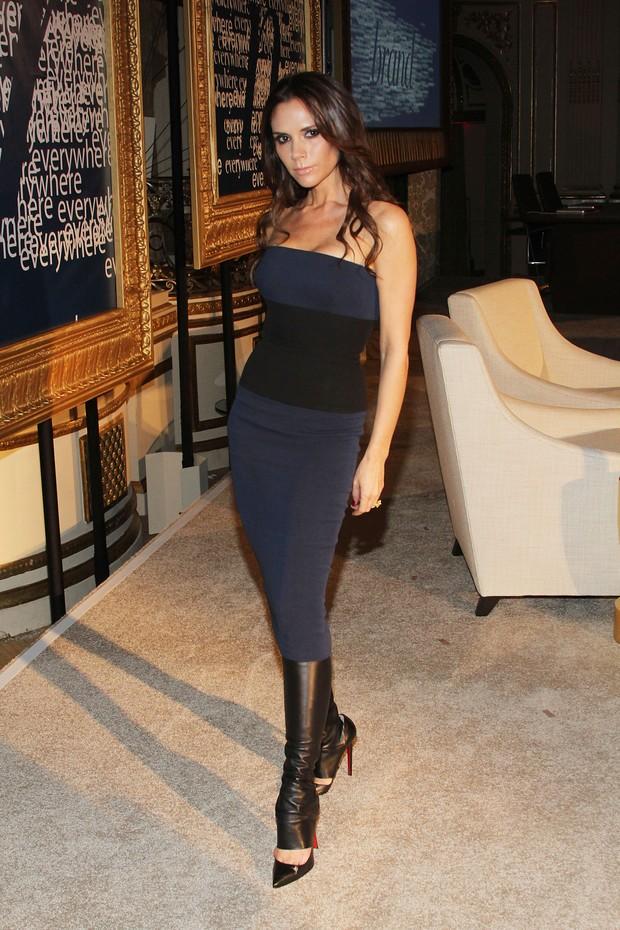 Victoria Beckham em hotel em Nova York, nos Estados Unidos (Foto: Getty Images/ Agência)