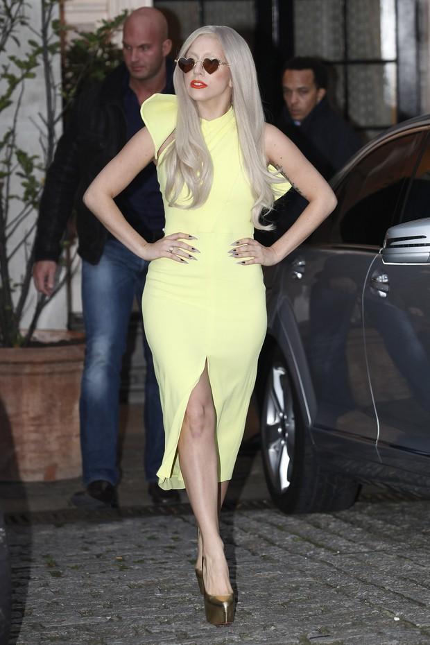 Lady Gaga em Londres, na Inglaterra (Foto: Getty Images/ Agência)