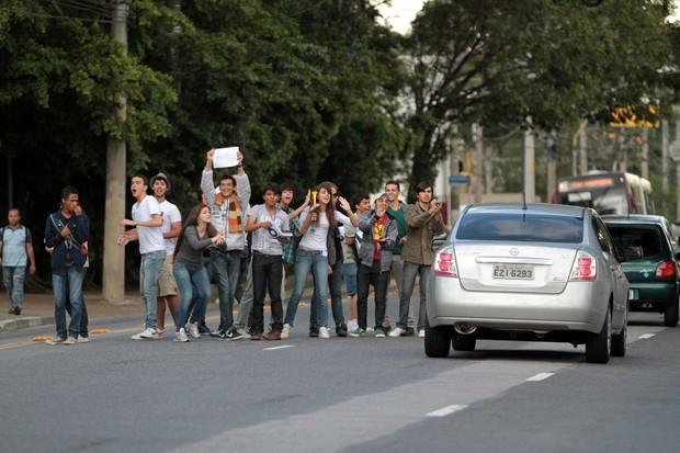 Fãs Britney (Foto: Orlando Oliveira / Agnews)