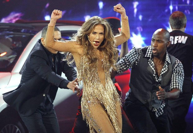 Jennifer Lopez no American Music Awards em Los Angeles, nos Estados Unidos (Foto: Reuters/ Agência)