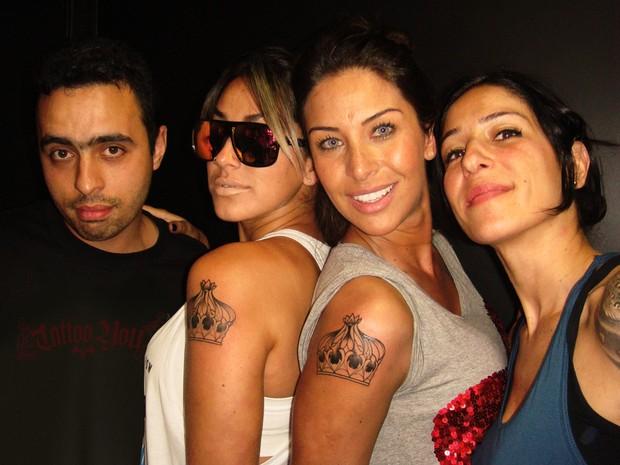 Mario, Dani Bolina, Lizzi Benites e Melissa (Foto: Divulgação)