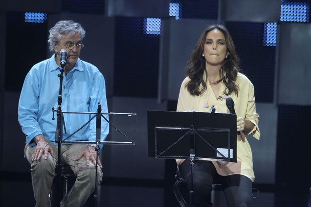 Ivete Sangalo e Caetano Veloso (Foto: Ricardo Leal/ Photorio News)