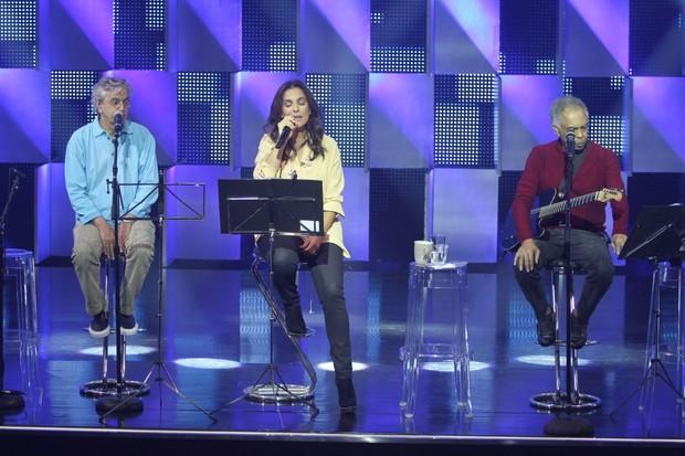 Caetano Veloso, Ivete Sangalo e Gilberto Gil (Foto: Ricardo Leal/ Photorio News)