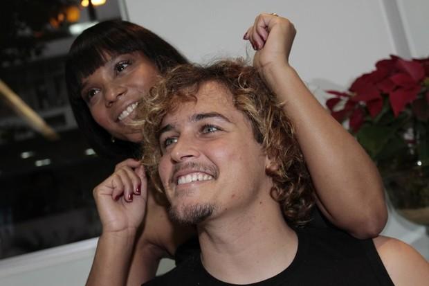 Felipe Dilon e Aparecida (Foto: Anderson Borde / Divulgação)
