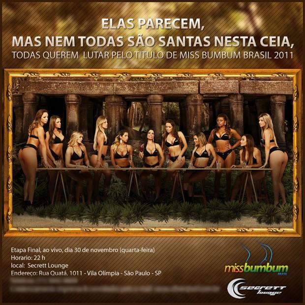Convite Miss Bumbum (Foto: Divulgação)