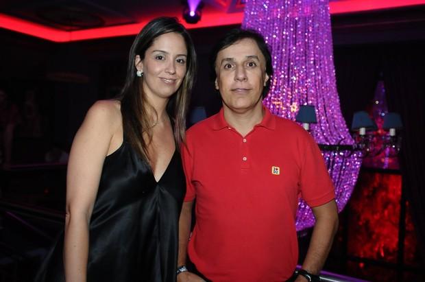 Tom Cavalcante com a mulher Patrícia em festa em São Paulo (Foto: Francisco Cepeda/ Ag.News)