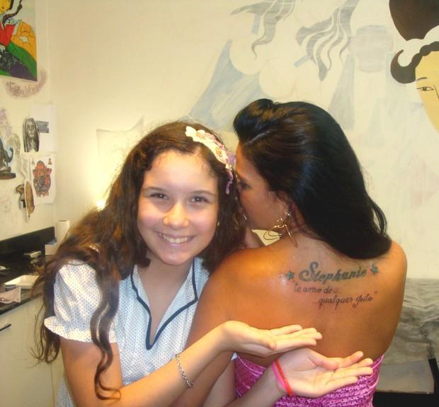 Solange Gomes com a filha (Foto: Divulgação/Divulgação)