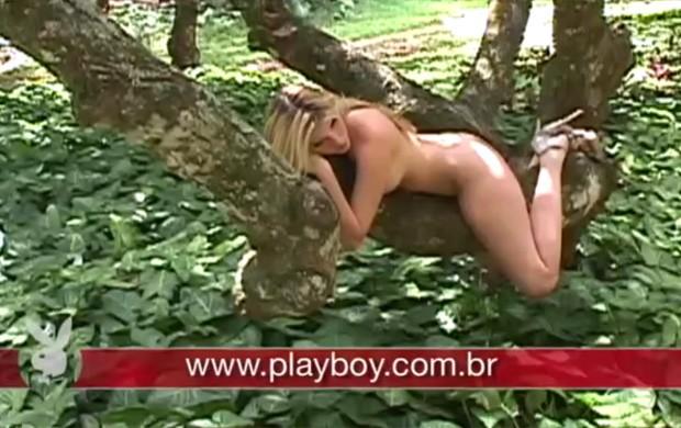 Veja imagens do making of de Bárbara Evans para a Playboy (Foto: Playboy / Divulgação)