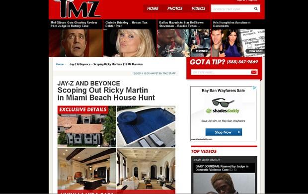 Jay-Z and Beyonce Scoping Out Ricky Martin (Foto: Reprodução / TMZ)