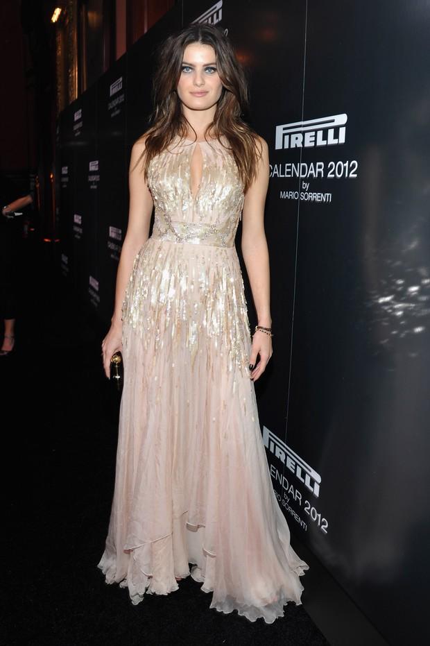 Isabeli Fontana no lançamento do calendário da Pirelli em Nova York, nos Estados Unidos (Foto: Getty Images/ Agência)