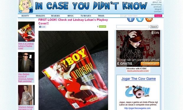"""Suposta capa da """"Playboy"""" de Lindsay Lohan (Foto: Reprodução)"""