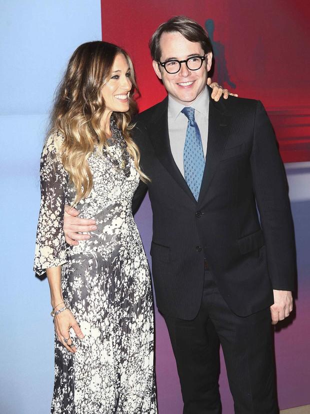 Sarah Jessica Parker e Matthew Broderick em evento em homenagem a Valentino em Nova York, nos EUA (Foto: Reuters/ Agência)