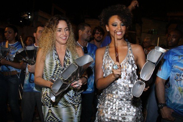 Daniela Mercury e Sheron Menezes (Foto: Roberto Filho / Ag. News)